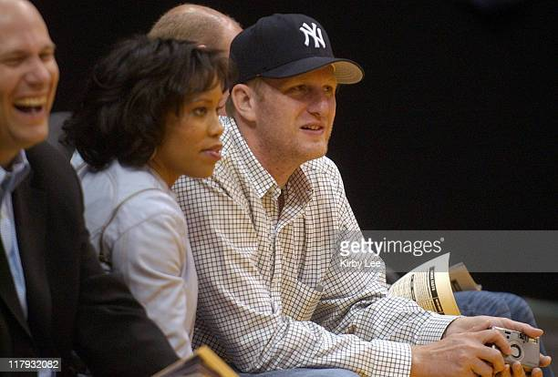 Michael Rapaport at Los Angeles Lakers game against the Minnesota Timberwolves at the Staples Center in Los Angeles, Calif. On Thursday, March 31,...