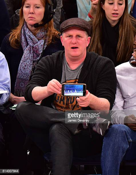 Michael Rapaport attends the Detroit Pistons vs New York Knicks game at Madison Square Garden on March 5 2016 in New York City