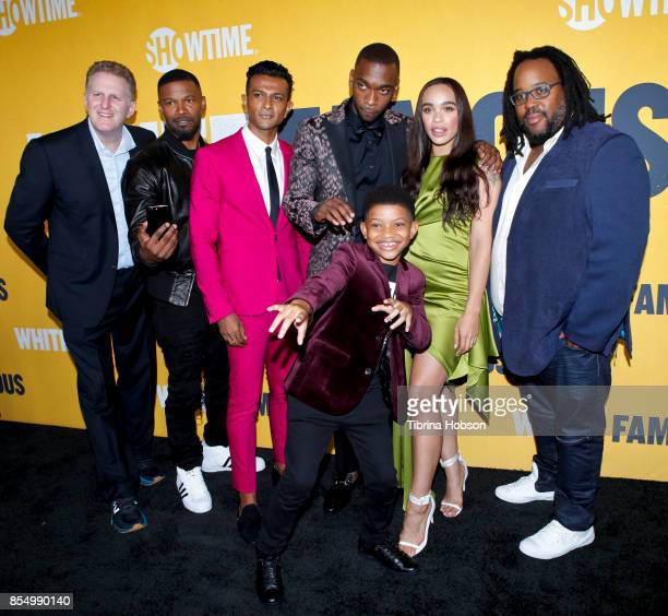 Michael Rapaport Jamie Foxx Lonnie Chavis Utkarsh Ambudkar Jay Pharoah Cleopatra Coleman and Jacob MingTrent attend the premiere of Showtime's 'White...