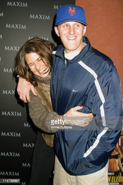 Michael Rappaport and wife attending Maxim Magazine's Pussycat Dolls Party at the Henry Fonda Theatre in Los Angeles CA 12/04/02