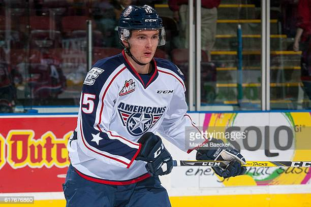 Michael Rasmussen of the TriCity Americans skates against the Kelowna Rockets on October 21 2016 at Prospera Place in Kelowna British Columbia Canada