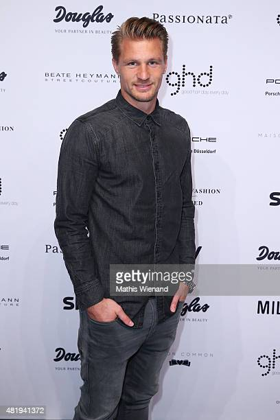 Michael Ratajczak arrives for the Platform Fashion Selected show during Platform Fashion July 2015 at Areal Boehler on July 25 2015 in Duesseldorf...