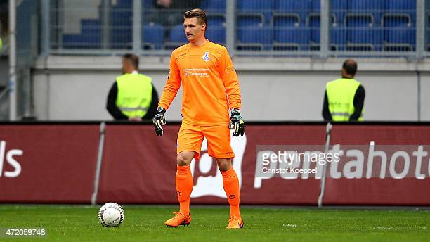 Michael Ratajczak of Duisburg runs with the ball during the Third League match between MSV Duisbrug and Preussen Muenster at SchauinslandReisenArena...
