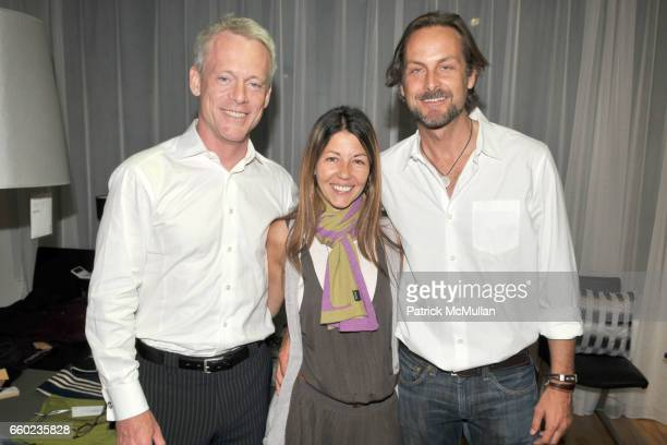 Michael Rawson Sally Randall Brunger and Andrew Brunger attend THE BRUNGERS 2009 Preview of Fall and Resort Knitwear at BoConcept Chelsea on July 16...
