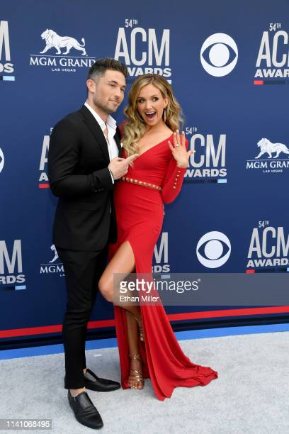 Michael Ray and Carly Pearce attend the 54th Academy Of Country Music Awards at MGM Grand Hotel Casino on April 07 2019 in Las Vegas Nevada