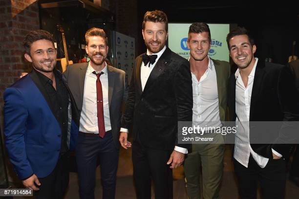 Michael Ray Curtis Rempel Brett Eldredge Brad Rempel and Cale Dodds attend the Warner Music Nashville CMA After Party on November 8 2017 in Nashville...