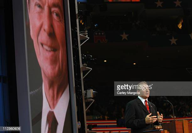 Michael Reagan during 2004 Republican National Convention - Day 3 - Inside at Madison Square Garden in New York City, New York, United States.