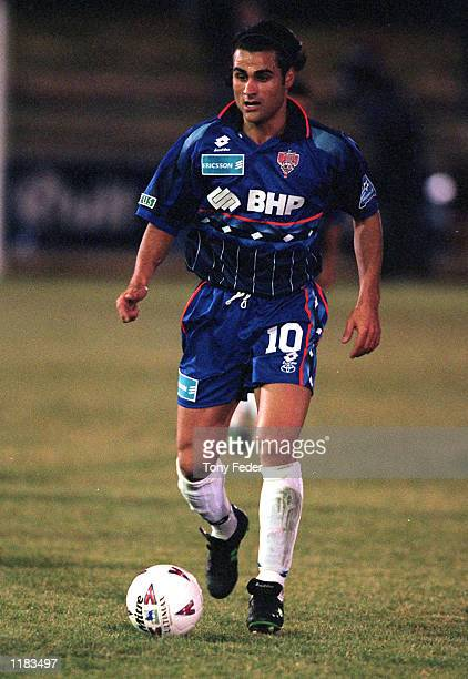 Michael Reda of the Wollongong Wolves in action during the NSL match between the Melbourne Knights and the Wollongong Wolves, played at the Knights...