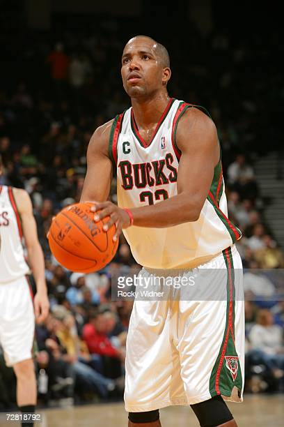 Michael Redd of the Milwaukee Bucks shoots a free throw against the Golden State Warriors on December 2, 2006 at Oracle Arena in Oakland, California....