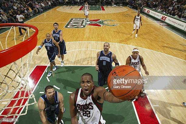 Michael Redd of the Milwaukee Bucks shoots a layup against the Utah Jazz on November 11 2006 at the Bradley Center in Milwaukee Wisconsin NOTE TO...