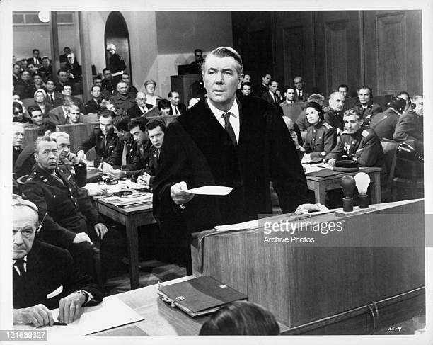 Michael Redgrave produces surprise evidence in the form of a letter in a scene from the film 'The 25th Hour' 1967