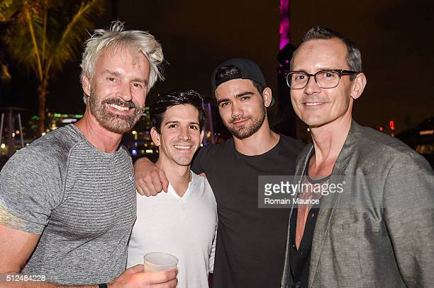 Michael Reh Jake se field Jay tenner Mauricio Attends The Deck At Island Gardens, Wilhelmina Models on February 19, 2016 in Miami, Florida.