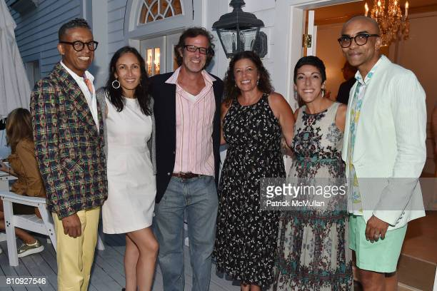 B Michael Rehana Farrell Jason Duchin Margaret Grioli Mary Winstanley and Mark Anthony attend Katrina and Don Peebles Host NY Mission Society Summer...