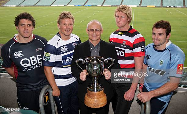 Michael Reid captain of North Harbour Daniel Braid captain of Auckland Gordon Buswell Chief Executive of ITM Jamie Chipman captain of Counties...