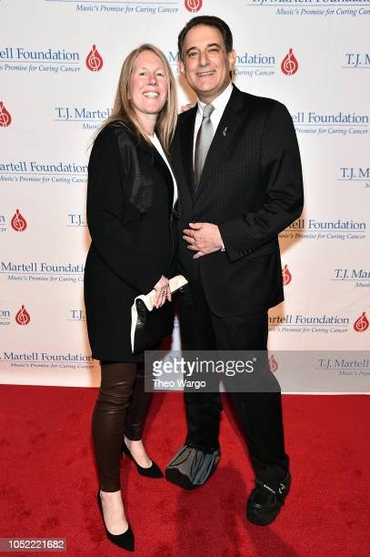 Michael Reinert and guest attend The TJ Martell Foundation 43rd New York Honors Gala at Cipriani 42nd Street on October 15 2018 in New York City