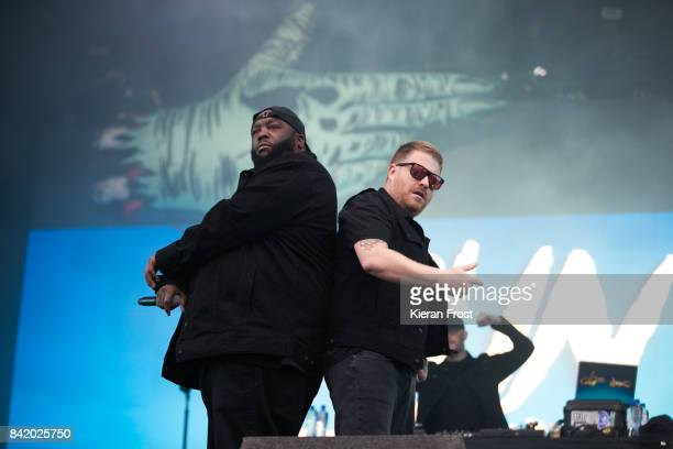 Michael Render ad Jaime Meline of Run the Jewels performs at Electric Picnic Festival at Stradbally Hall Estate on September 2, 2017 in Laois,...