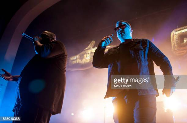 Michael Render aka Killer Mike and Jaime Meline aka ElP of Run The Jewels perform at O2 Academy Brixton on November 11 2017 in London England