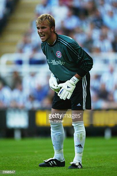 Michael Rensing of FC Bayern Munich in action during the Pre-Season Friendly match between Newcastle United and FC Bayern Munich held on August 5,...