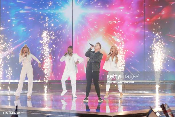 Michael Rice representing United Kingdom performs live on stage during the 64th annual Eurovision Song Contest held at Tel Aviv Fairgrounds on May 18...