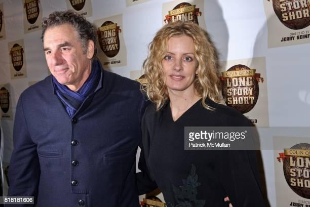 Michael Richards and Beth Skipp attend COLIN QUINN LONG STORY SHORT OPENING NIGHT DIRECTED BY JERRY SEINFELD at Helen Hayes Theatre on November 9...