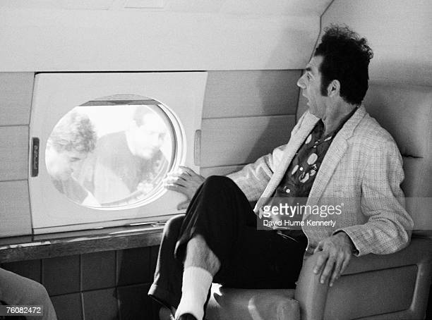 Michael Richards as 'Kramer' on the set of 'Seinfeld' during the final days of shootingApril 3 1998 in Los Angeles California