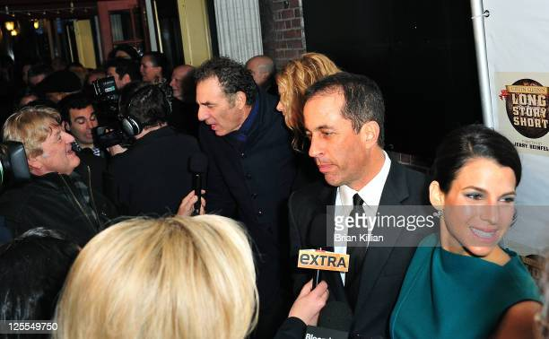 Michael Richards Beth Skipp Jerry Seinfeld and Jessica Seinfeld attend the Broadway opening night of Colin Quinn Long Story Short at the Helen Hayes...