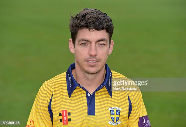 Michael Richardson of Durham poses for a photograph in the One Day kit during the Durham County Cricket Club photocall at the Riverside on April 8...