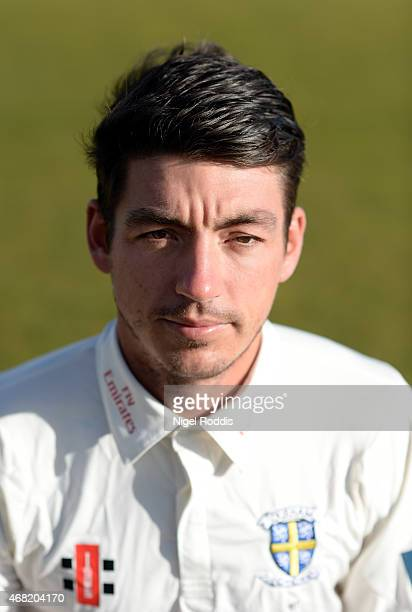 Michael Richardson of Durham poses for a portrait during the Durham CCC Photocall at The Riverside on March 31 2015 in ChesterleStreet England