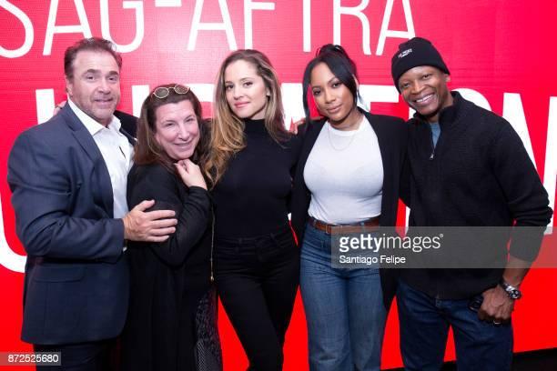 Michael Rispoli Margarita Leveiva Alexa Fogel Natalie Paul and Lawrence Gilliard attend SAGAFTRA Foundation Conversations 'The Deuce' at SAGAFTRA...