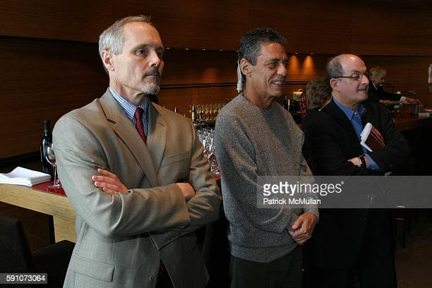 Michael Roberts Chico Buarque and Salman Rushdie attend Montblanc De La Culture Award Ceremony at Dizzy Gilespie's Club at Jazz at Lincoln Center on...