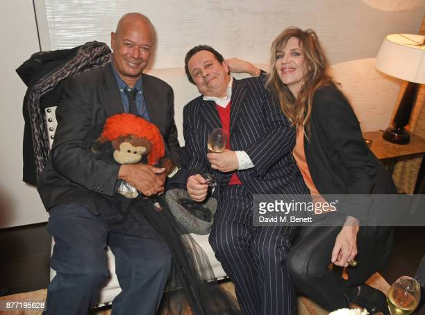 Michael Roberts Detmar Blow and Martha Fiennes attend Louis Vuittons Celebration of GingerNutz in Vogue's December Issue on November 21 2017 in...