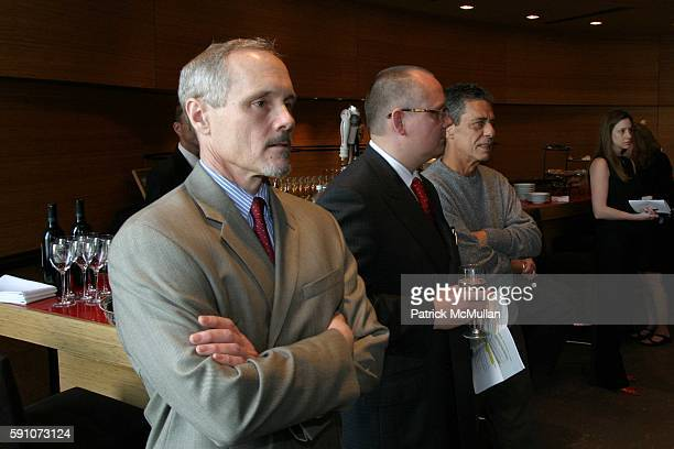 Michael Roberts JanPatrick Schmitz and Chico Buarque attend Montblanc De La Culture Award Ceremony at Dizzy Gilespie's Club at Jazz at Lincoln Center...