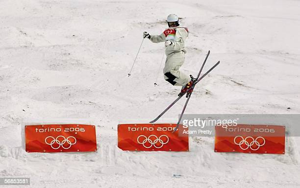 Michael Robertson of Australia competes in the Mens Freestyle Skiing Moguls Qualifying on Day 5 of the 2006 Turin Winter Olympic Games on February 15...