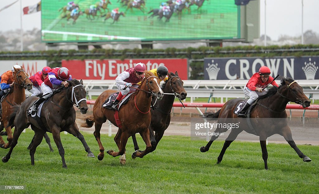 Michael Rodd riding Charlie Boy wins the Danehill Stakes during Melbourne racing at Flemington Racecourse on September 7, 2013 in Melbourne, Australia.