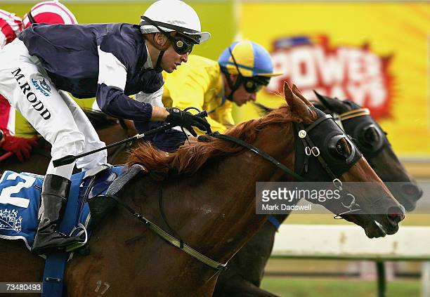 Michael Rodd riding Incumbent wins the 2007 Inglis Premier during the Futurity Stakes Day at Caulfield March 3, 2007 in Melbourne,Australia.