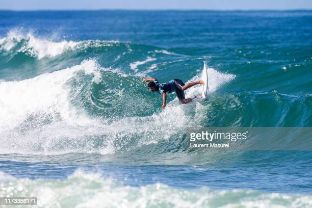 Michael Rodrigues of Brazil advances directly to Round 3 of the 2019 Quiksilver Pro France after placing second in Heat 6 of Round 1 at Le Culs Nus...