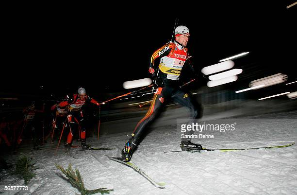 Michael Roesch of Germany competes during the men's 4x7.5 km relay of the Biathlon World Cup on January 12, 2006 in Ruhpolding, Germany.