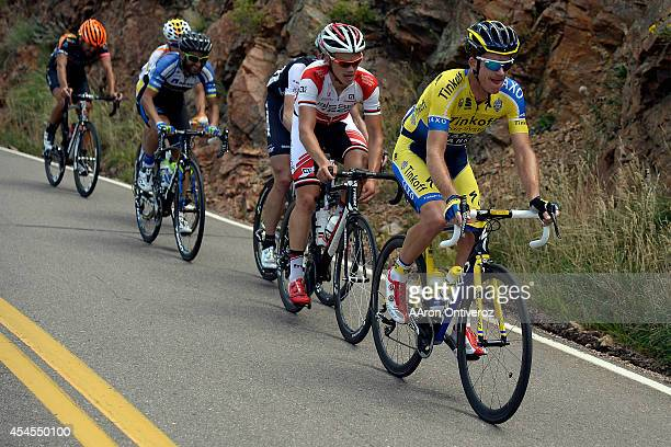 Michael Rogers leads the pack up Lookout Mountain during stage 7 The USA Pro Challenge stage 7 on Sunday August 24 2014