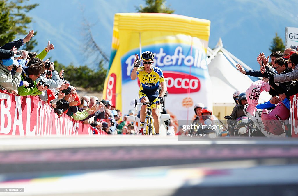 Michael Rogers of Australia and team Tinkoff-Saxo crosses the line to win the twentieth stage of the 2014 Giro d'Italia, a 167km high mountain stage between Maniago and Monte Zoncolan on May 31, 2014 in Maniago, Italy.