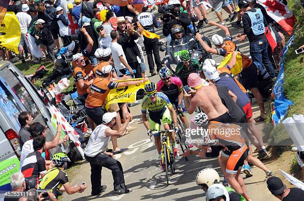 Michael Rogers of Team TinkoffSaxo during Stage 16 of the Tour de France on July 22 2014 in BagneresdeLuchon France