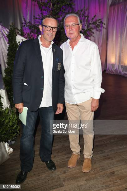 Michael Roll and Franz Beckenbauer during a bavarian evening ahead of the Kaiser Cup 2017 at the Quellness Golf Resort on July 7 2017 in Bad...