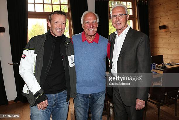 Michael Roll Franz 'Bulle' Roth Franz Beckenbauer during the Franz Roth Golf Cup gala evening in favour of Michael Roll Stiftung 'Tabaluga' on May 1...