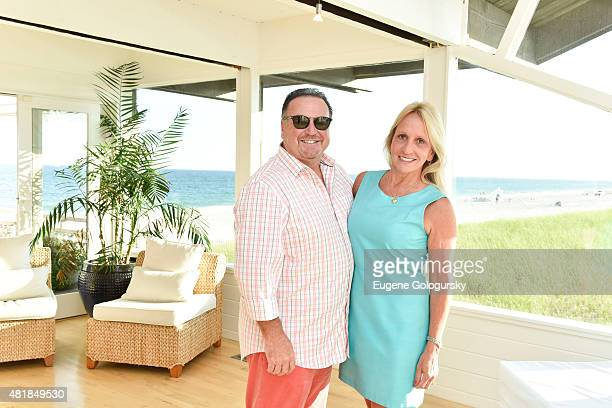 Michael Romano and Claire Romano attend the Hamptons Magazine And Douglas Elliman Hosting of A Summer Soiree With Robbins Wolfe Eventeurs At The BH...
