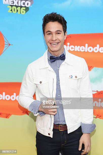 Michael Ronda arrives at the Nickelodeon Kids' Choice Awards Mexico 2016 at Auditorio Nacional on August 20 2016 in Mexico City Mexico