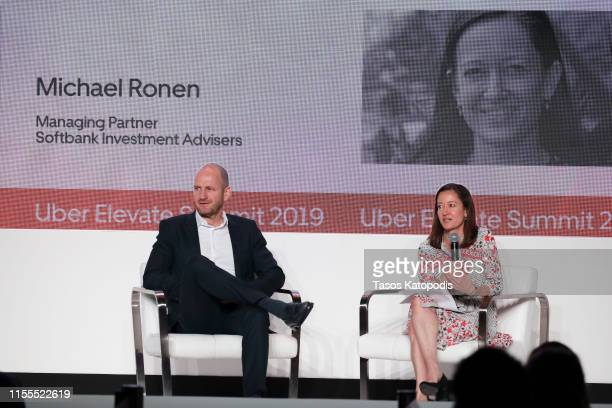 Michael Ronen Managing Partner SoftBank Investment Advisers and Jennifer Jarrett VP Corporate Development Capital Markets Uber participates in a...