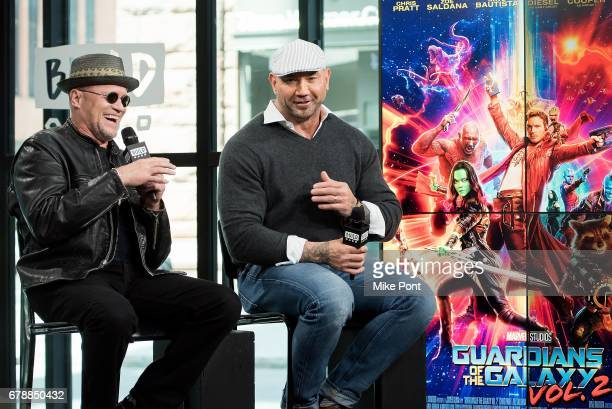 Michael Rooker and Dave Bautista visit Build Studio to discuss Guardians of the Galaxy Vol 2 at Build Studio on May 4 2017 in New York City