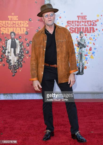 """Michael Rooker attends Warner Bros. Premiere of """"The Suicide Squad"""" at The Landmark Westwood on August 02, 2021 in Los Angeles, California."""