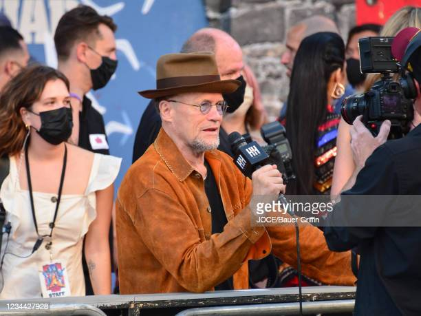 Michael Rooker is seen outside 'The Suicide Squad' Premiere at Bruin Theatre on August 02, 2021 in Los Angeles, California.