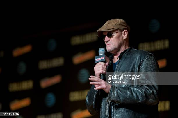 Michael Rooker on stage during the Michael Rooker spotlight on the main stage during 2017 New York Comic Con Day 1 on October 5 2017 in New York City