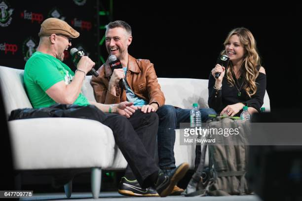 Michael Rooker Sean Gunn and Clare Kramer speak on stage during Emerald City Comic Con at Washington State Convention Center on March 3 2017 in...